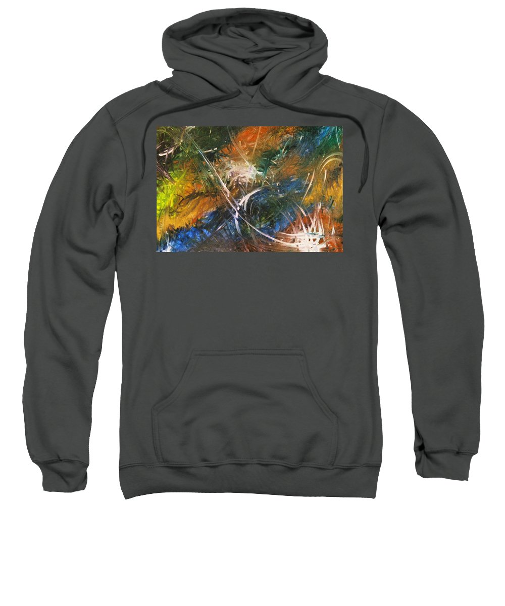 Dragon Sweatshirt featuring the painting Dragon by Kim Rahal