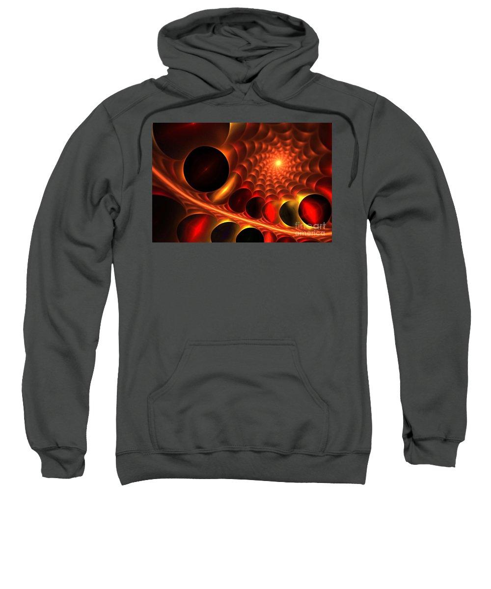 Apophysis Sweatshirt featuring the digital art Dragon Web by Kim Sy Ok