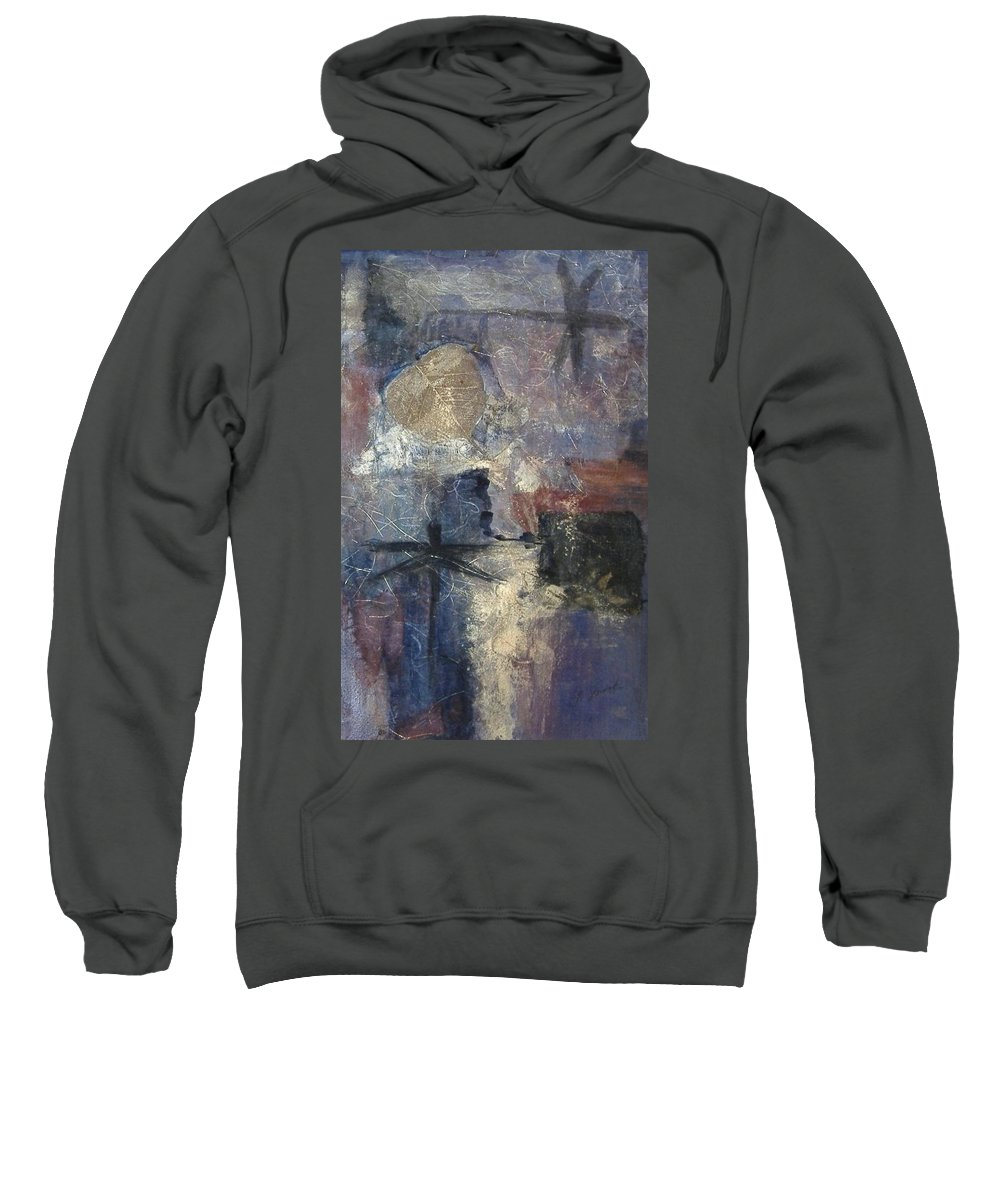Collage Sweatshirt featuring the mixed media Dragonflies by Pat Snook