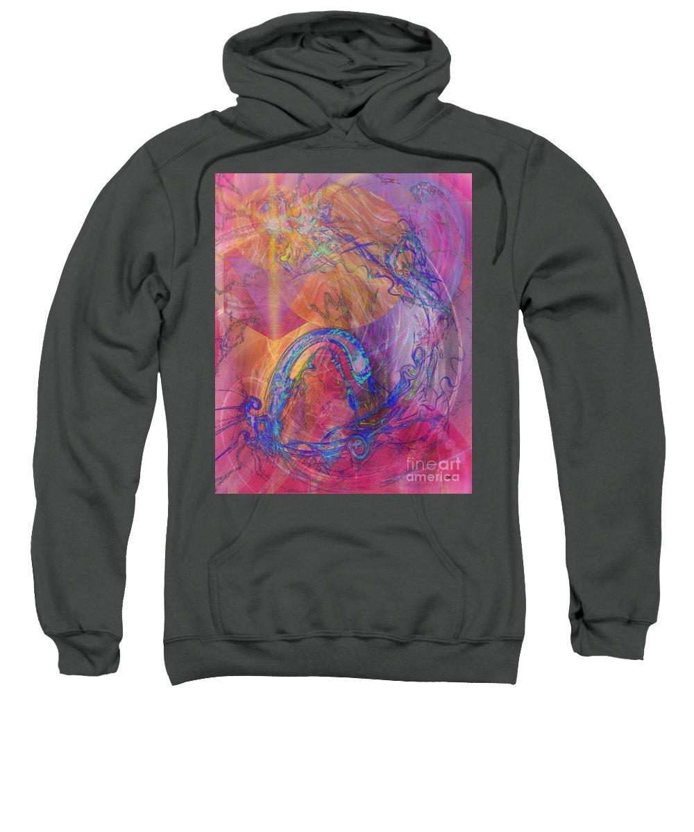 Dragon's Tale Sweatshirt featuring the digital art Dragon's Tale by John Beck