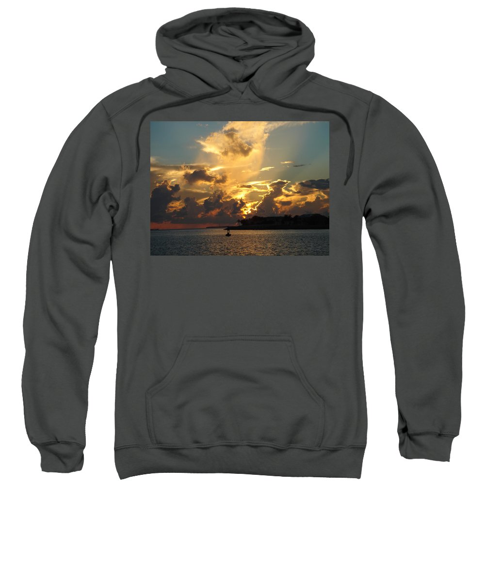 Photography Sweatshirt featuring the photograph Dramatic Clouds by Susanne Van Hulst