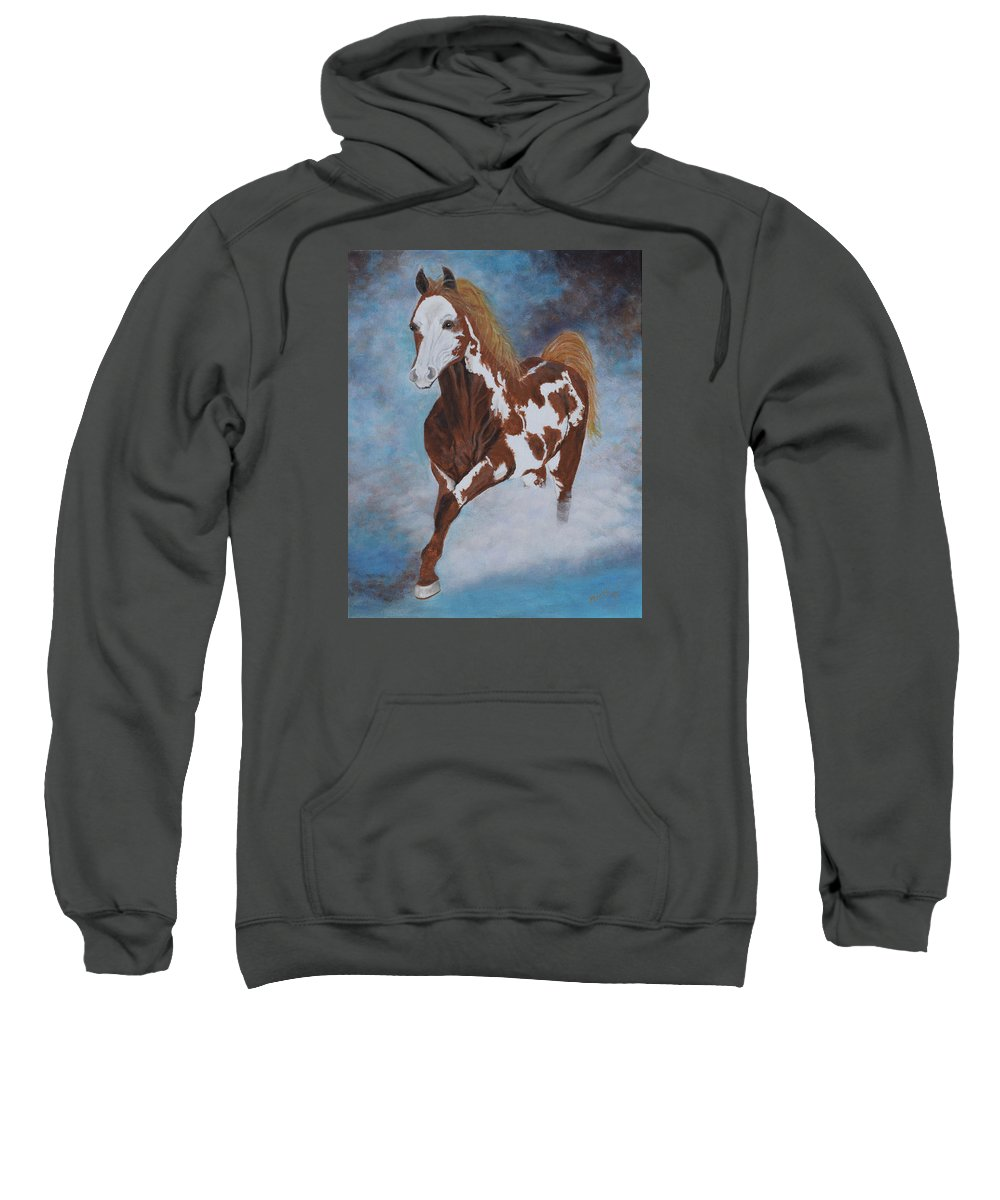 Horse Sweatshirt featuring the painting Dreamer by Belinda Nagy