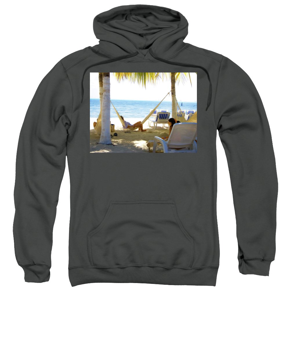 Beach Sweatshirt featuring the photograph Dreaming by Douglas Barnard