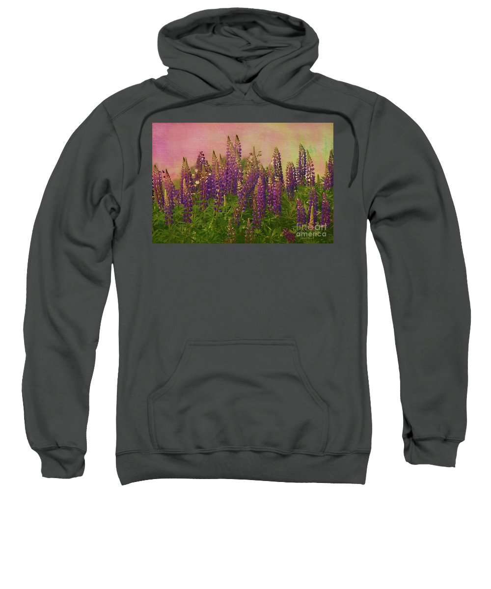Lupin Sweatshirt featuring the photograph Dreamy Lupin by Deborah Benoit