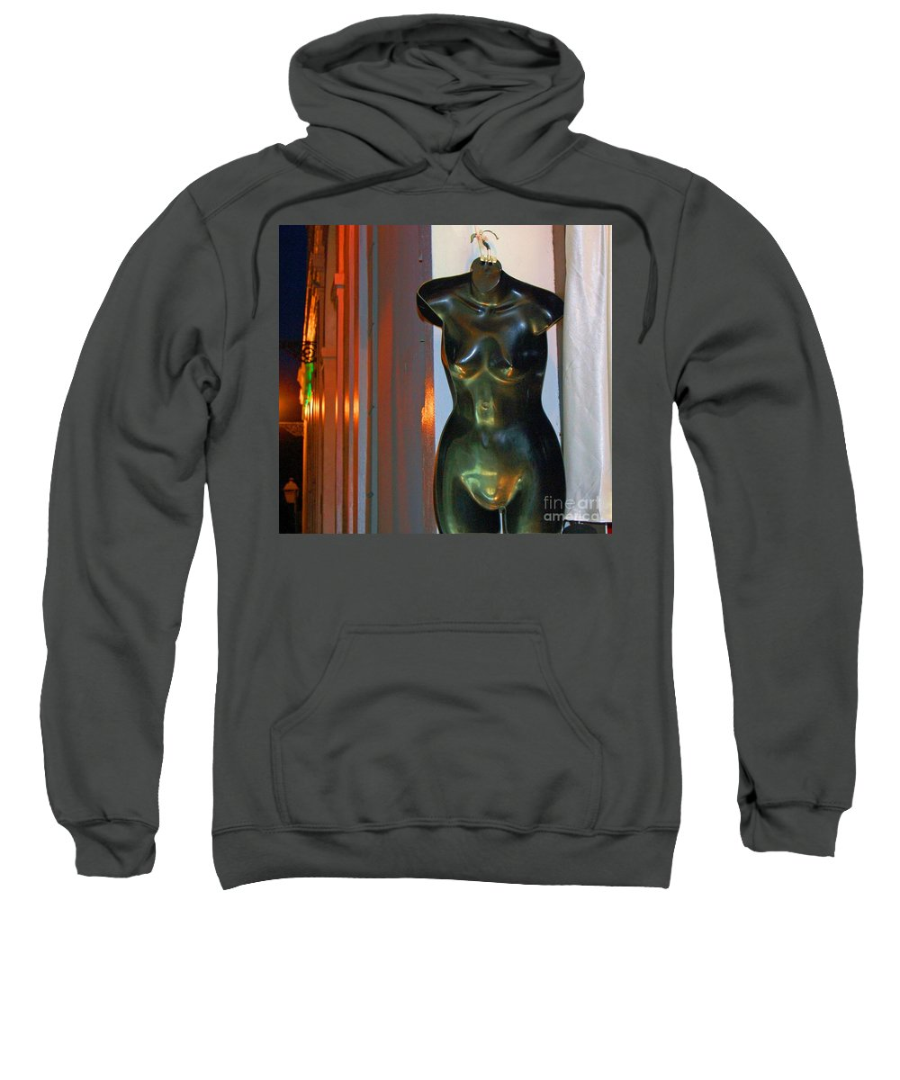 Mannequin Sweatshirt featuring the photograph Dress Is Less by Debbi Granruth