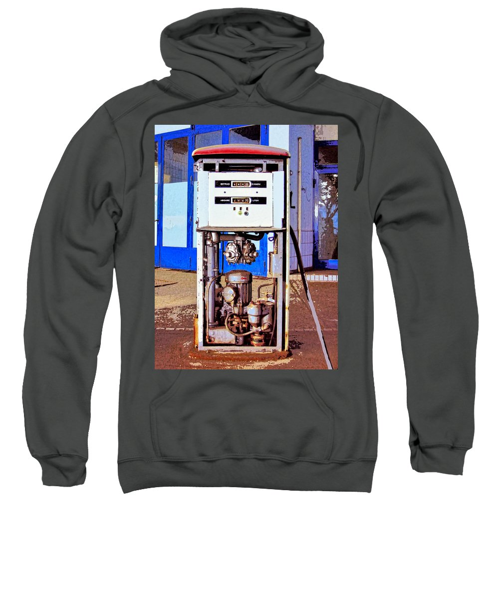 Droid Sweatshirt featuring the mixed media Droid 3 by Dominic Piperata
