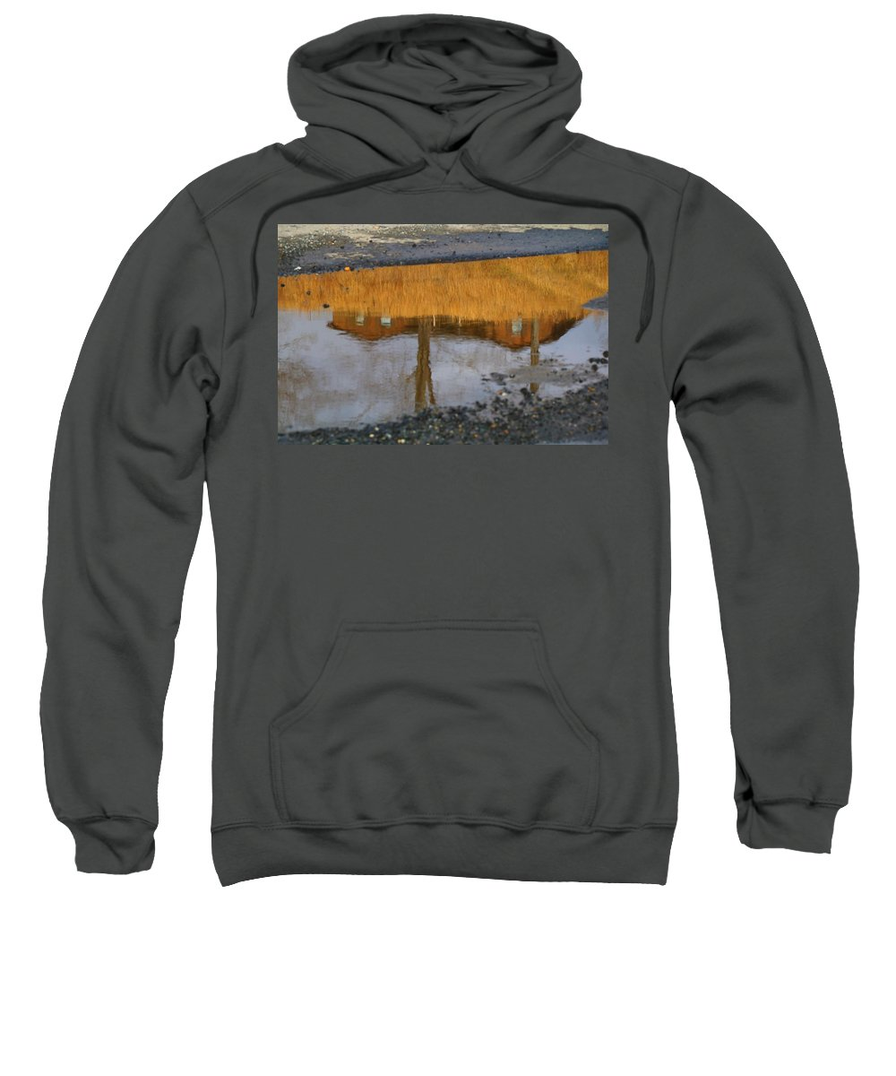 Reflection Sweatshirt featuring the photograph Dry Conditions Will Continue by Kathryn Meyer