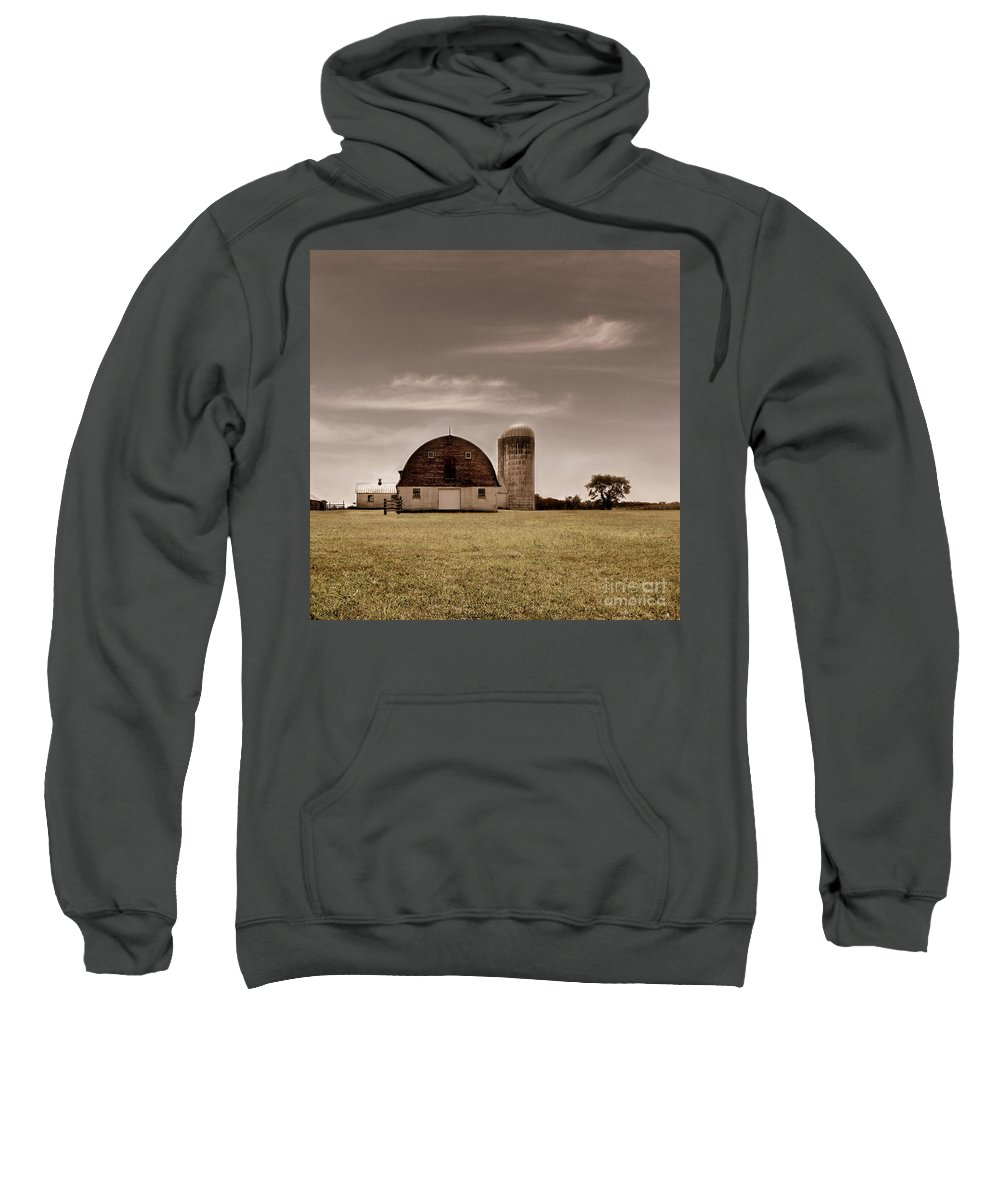 Farm Sweatshirt featuring the photograph Dry Earth Crumbles Between My Fingers And I Look To The Sky For Rain by Dana DiPasquale