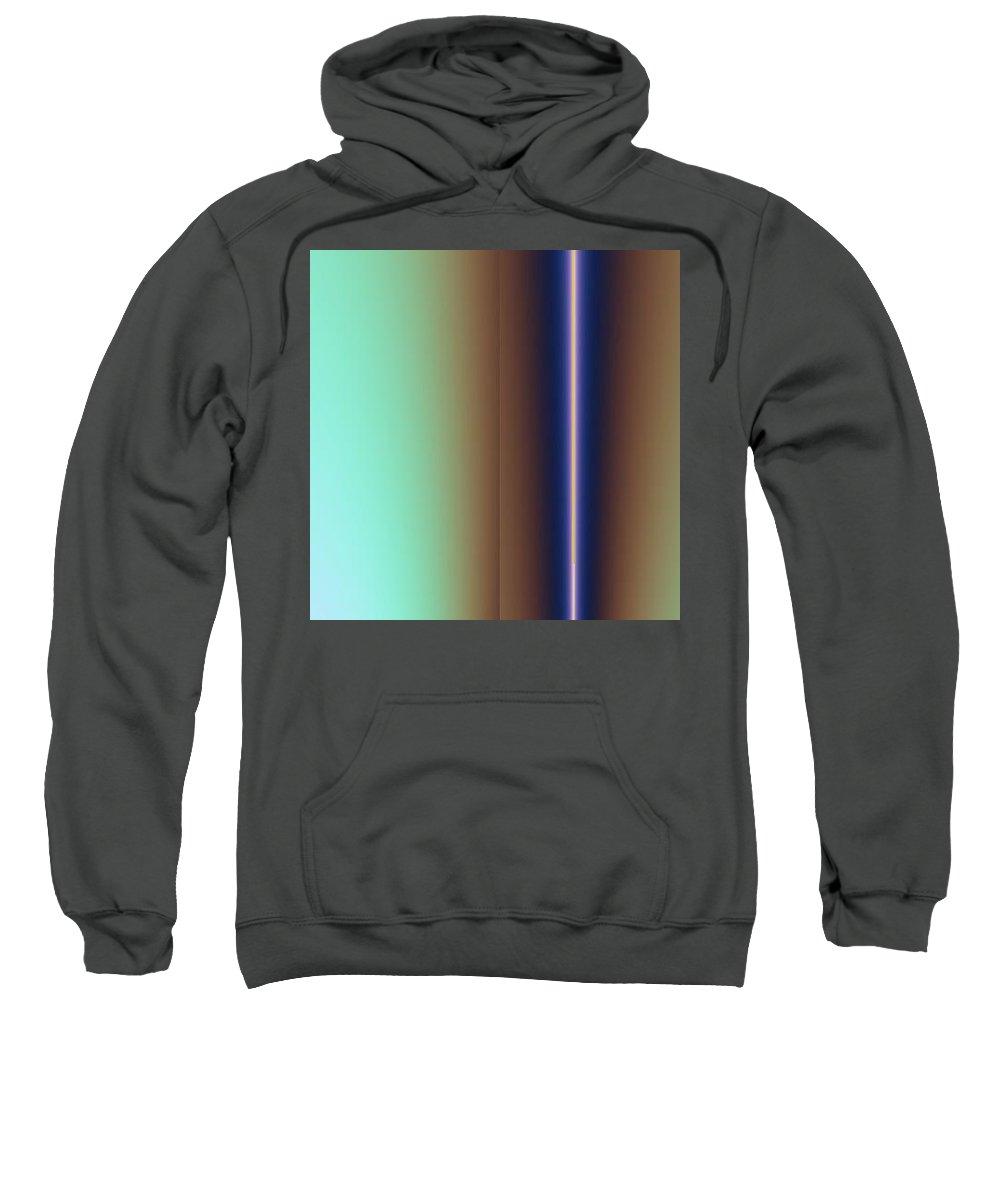 Digital Art Sweatshirt featuring the digital art Duality IIi by Dragica Micki Fortuna