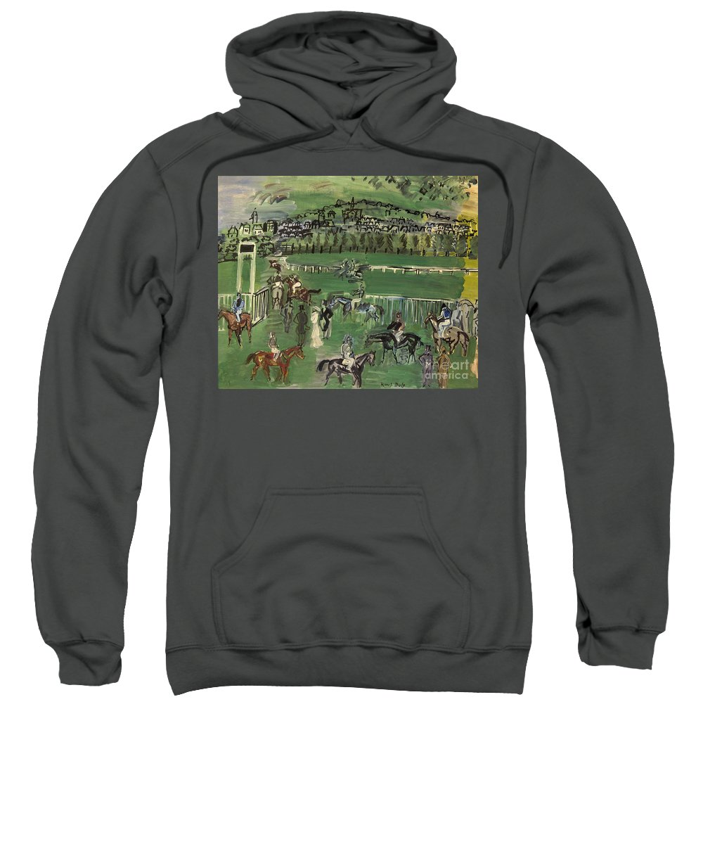 1928 Sweatshirt featuring the photograph Dufy: Race Track, 1928 by Granger