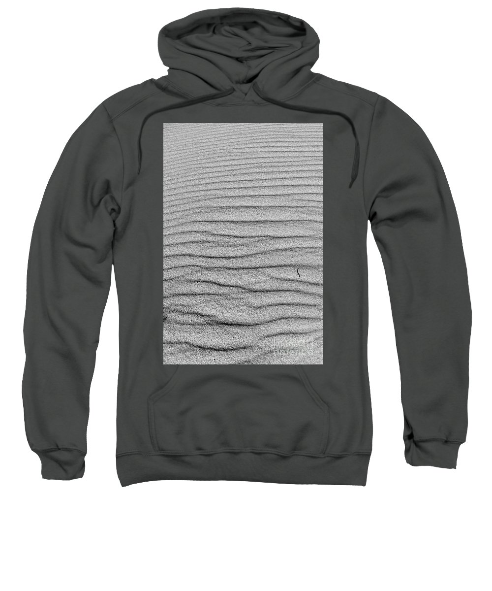 Sea Sweatshirt featuring the photograph Dune Textures In Monochrome by Angelo DeVal