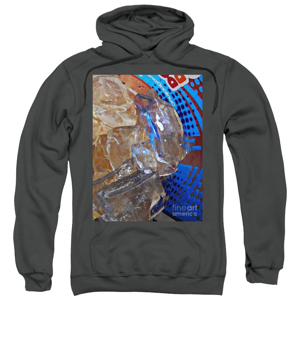 Abstract Sweatshirt featuring the photograph Dunkin Ice Coffee 20 by Sarah Loft