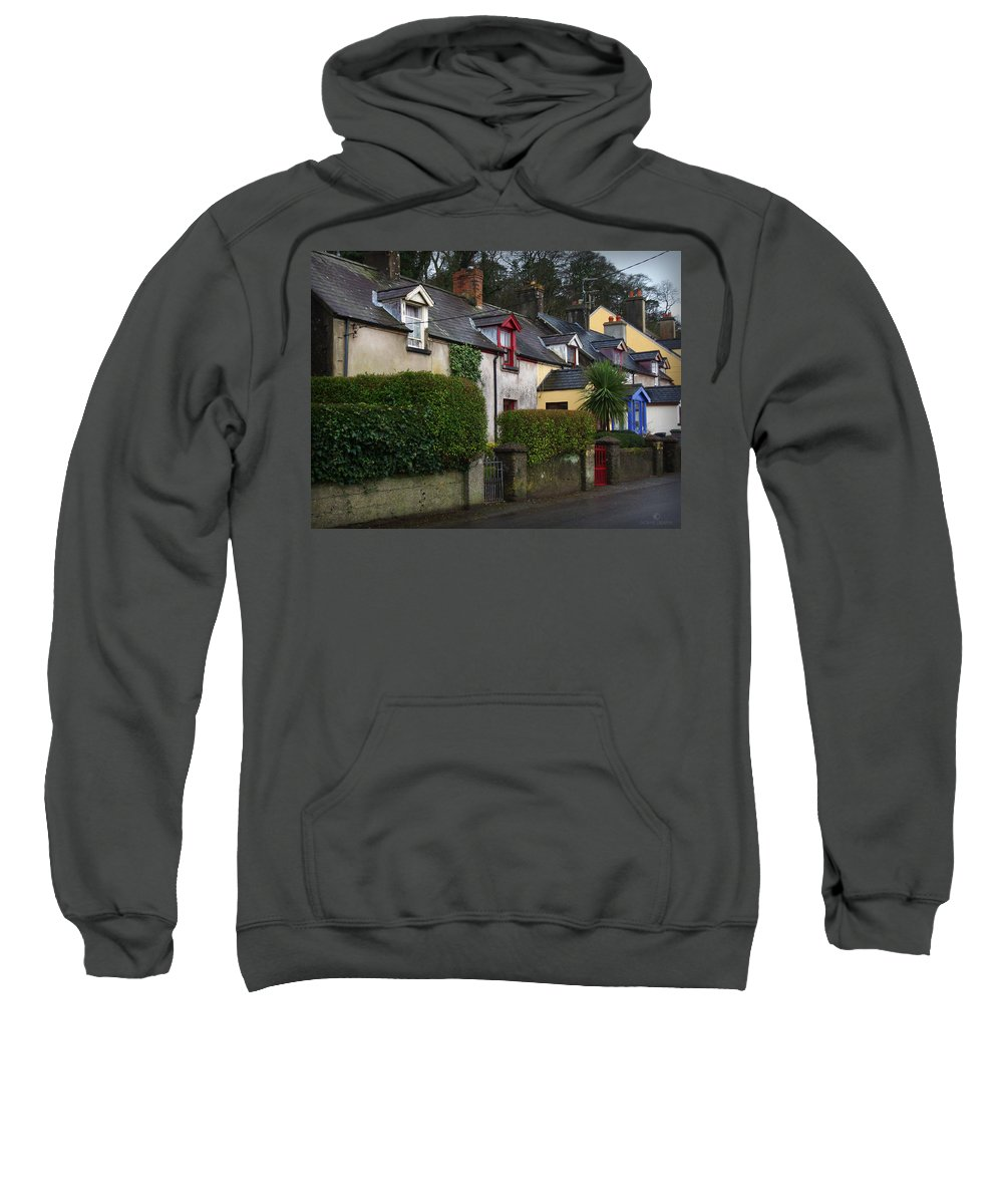 Ireland Sweatshirt featuring the photograph Dunmore Houses by Tim Nyberg