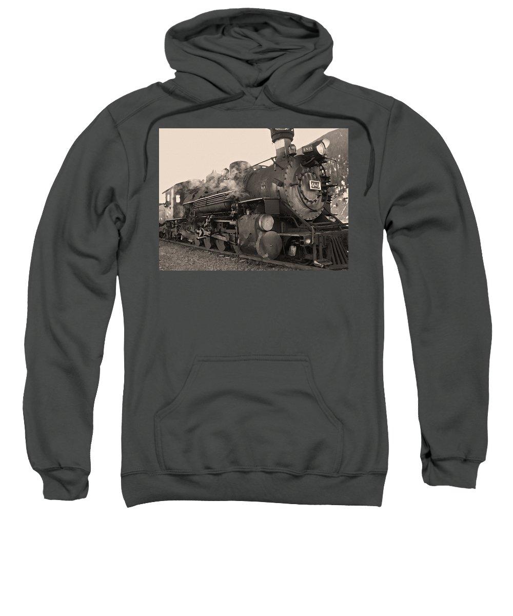 Durango Sweatshirt featuring the photograph Durango Silverton 480 Sepia by Ernie Echols