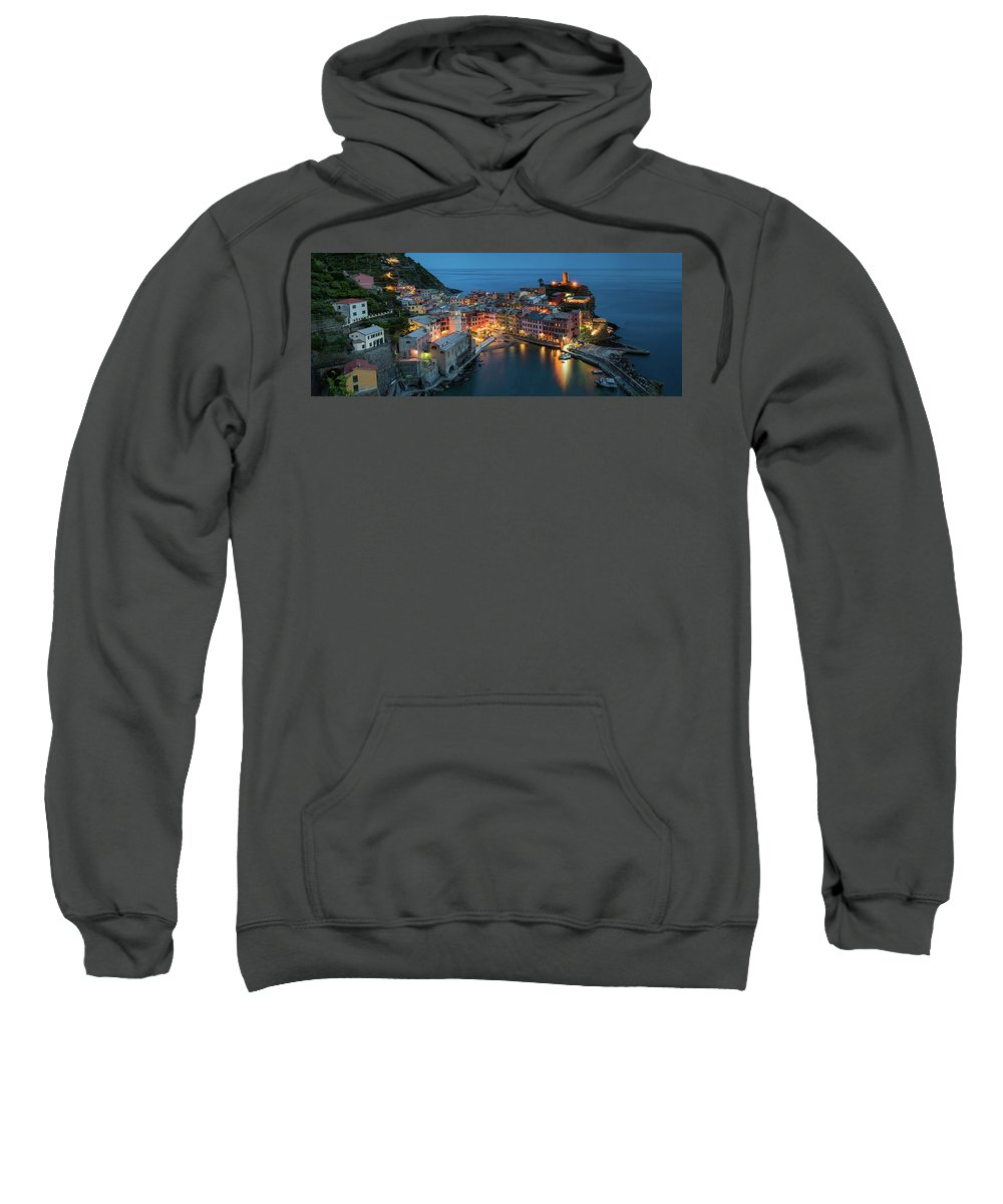 Europe Sweatshirt featuring the photograph Dusk At Vernazza by Michael Blanchette