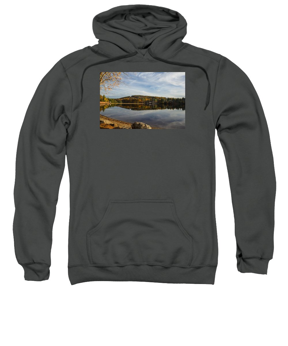 Landscape Sweatshirt featuring the photograph Dust In Fall by Eric Szumiesz