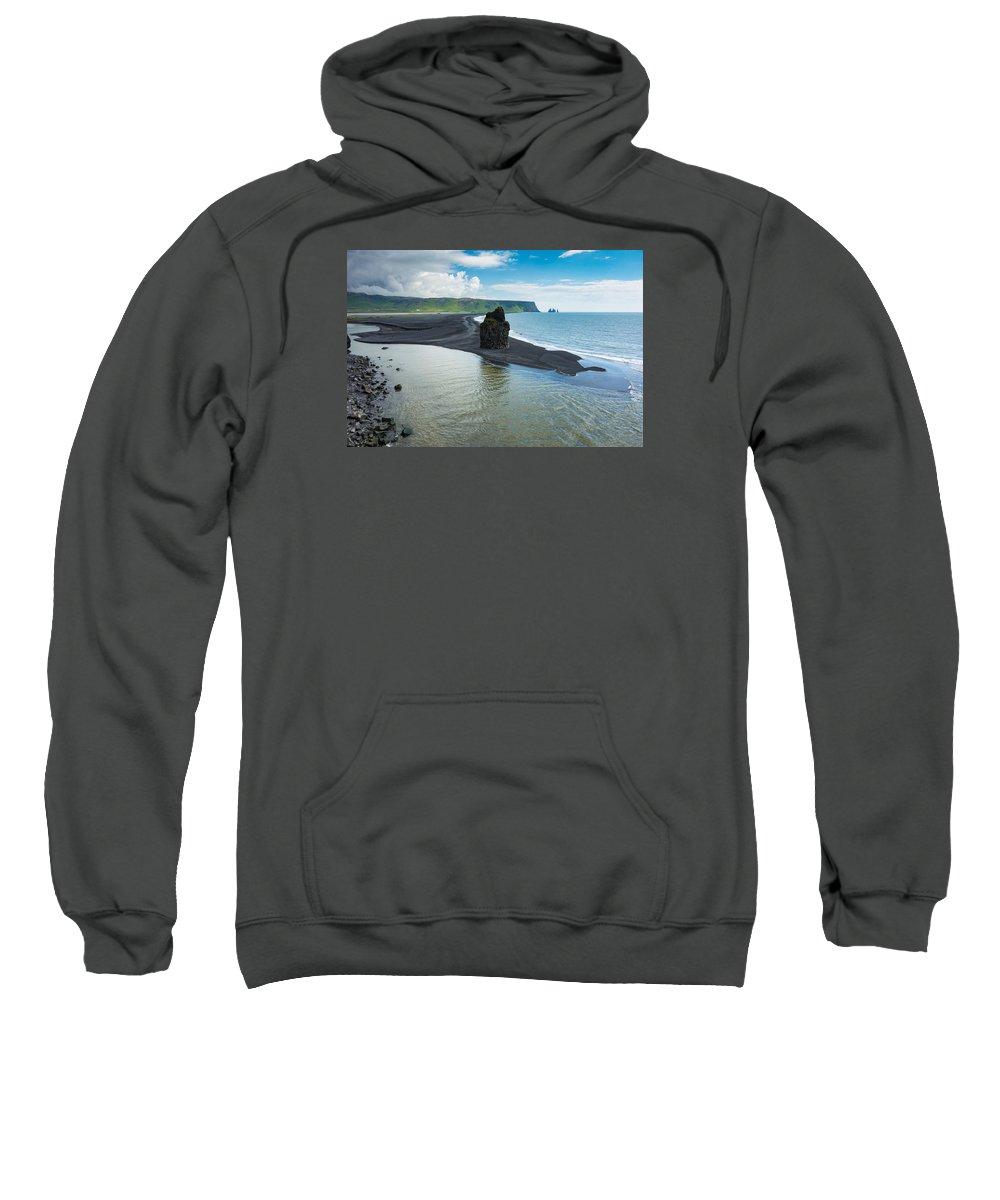 Dyrholaey Sweatshirt featuring the photograph Dyrholaey by Claudio Bergero