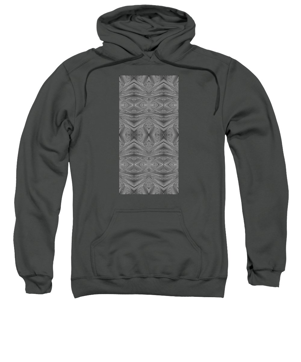 Dynamic Black And White Sweatshirt featuring the painting Earliest Morning by Douglas Christian Larsen
