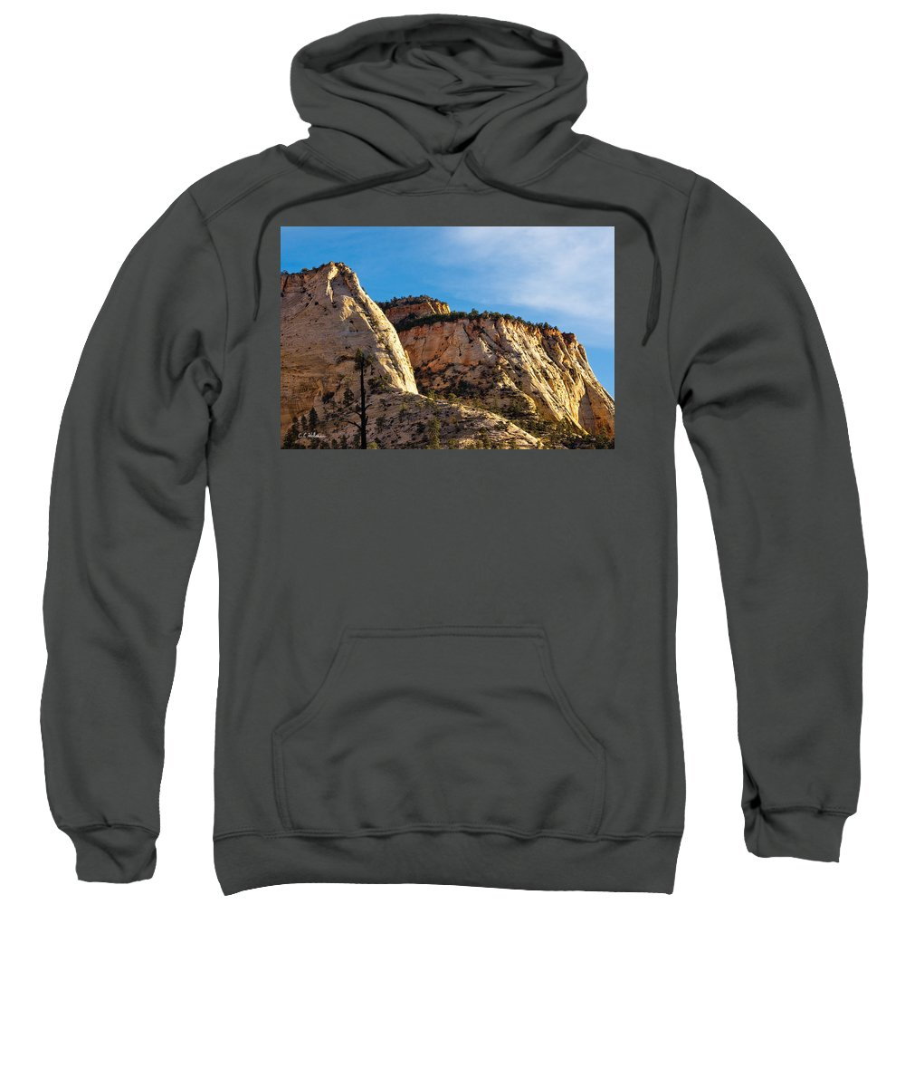 Zion Sweatshirt featuring the photograph Early Morning In Zion Canyon by Christopher Holmes