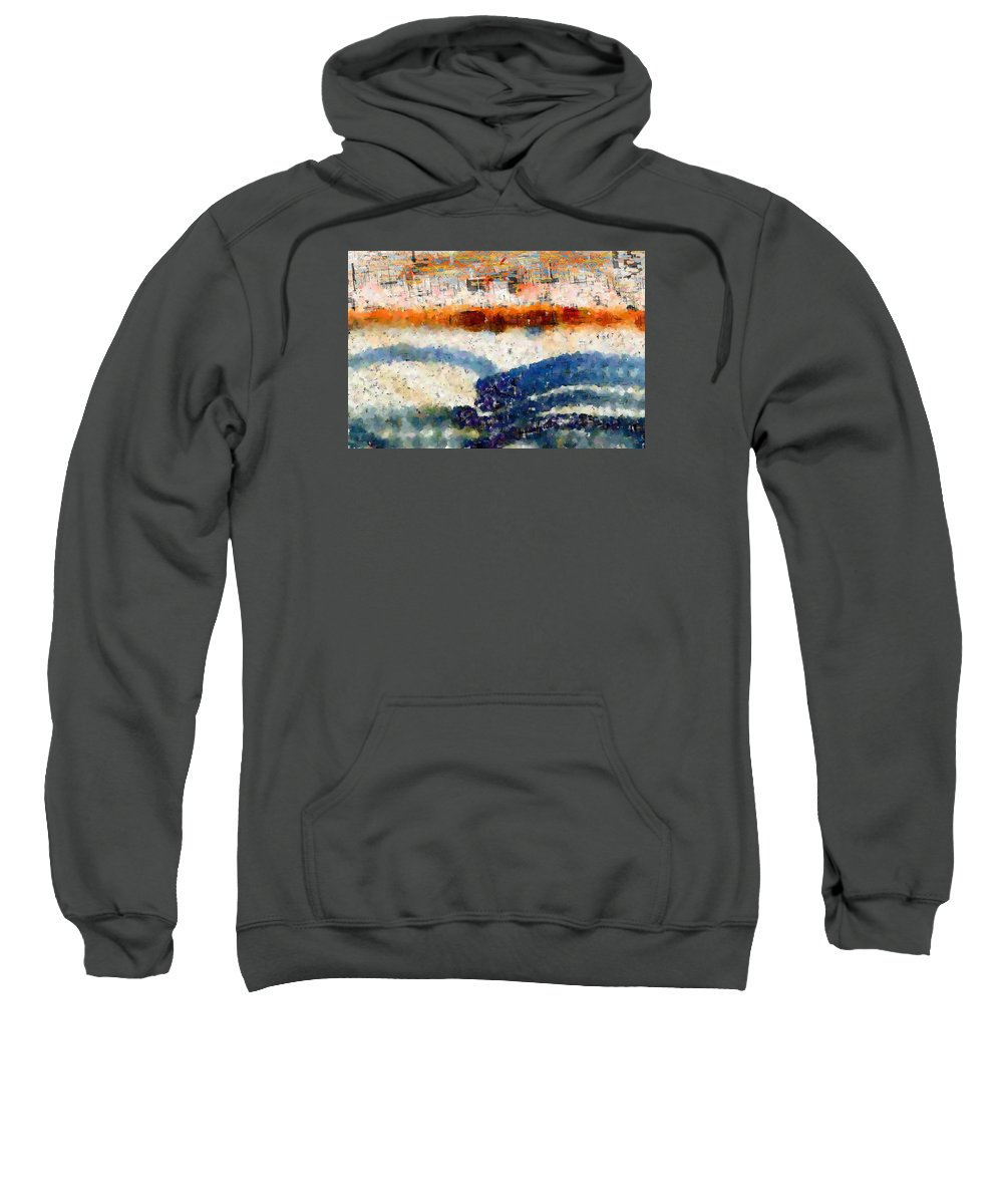 Abstract Sweatshirt featuring the digital art Early Morning Walk by Bruce Vollert