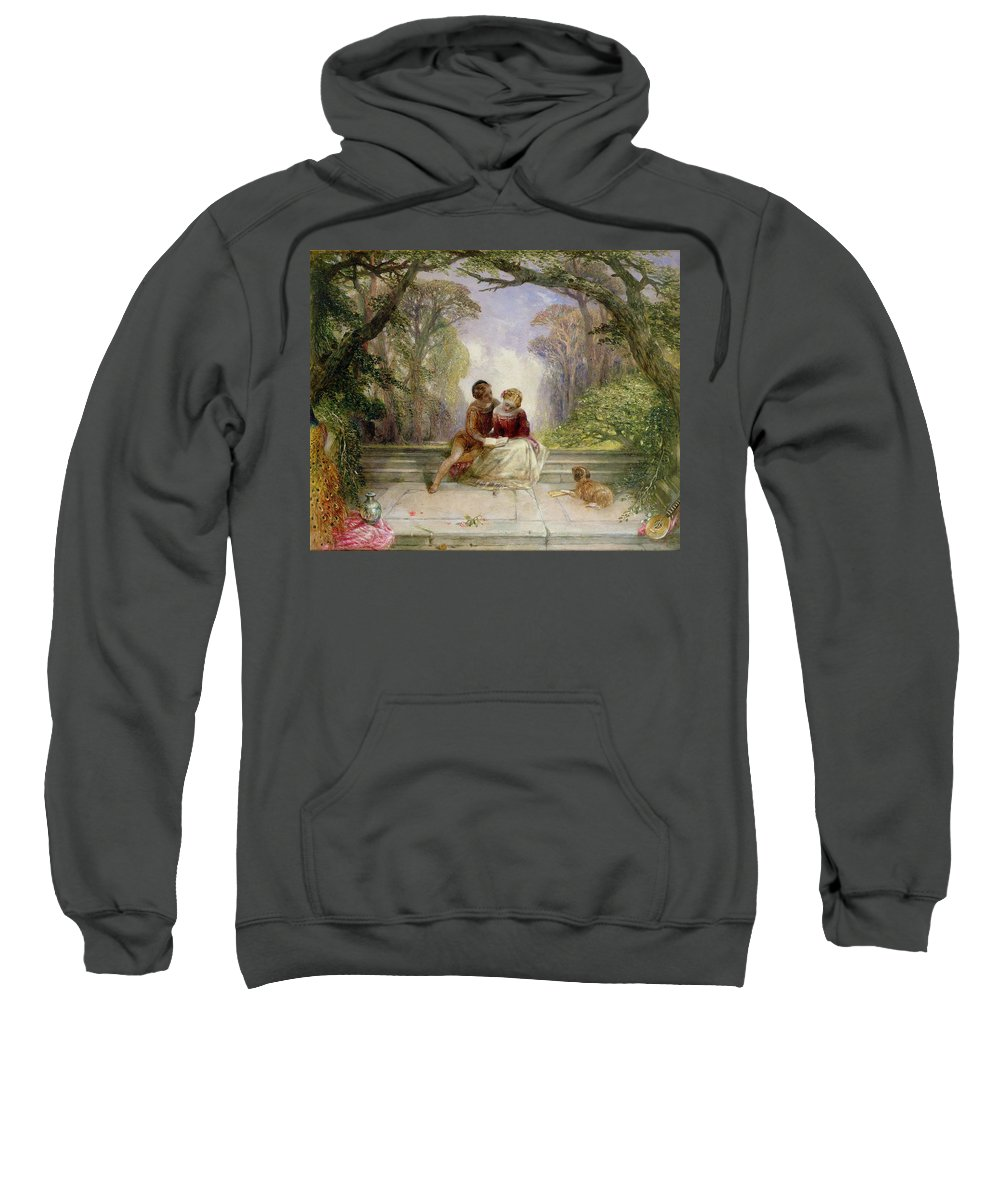 Early Summer By Alfred Woolmer (1805-92) Sweatshirt featuring the painting Early Summer by Alfred Woolmer
