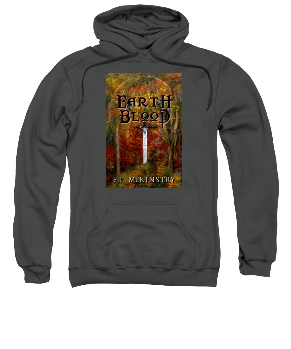 Cover Art Sweatshirt featuring the painting Earth Blood Cover Art by FT McKinstry