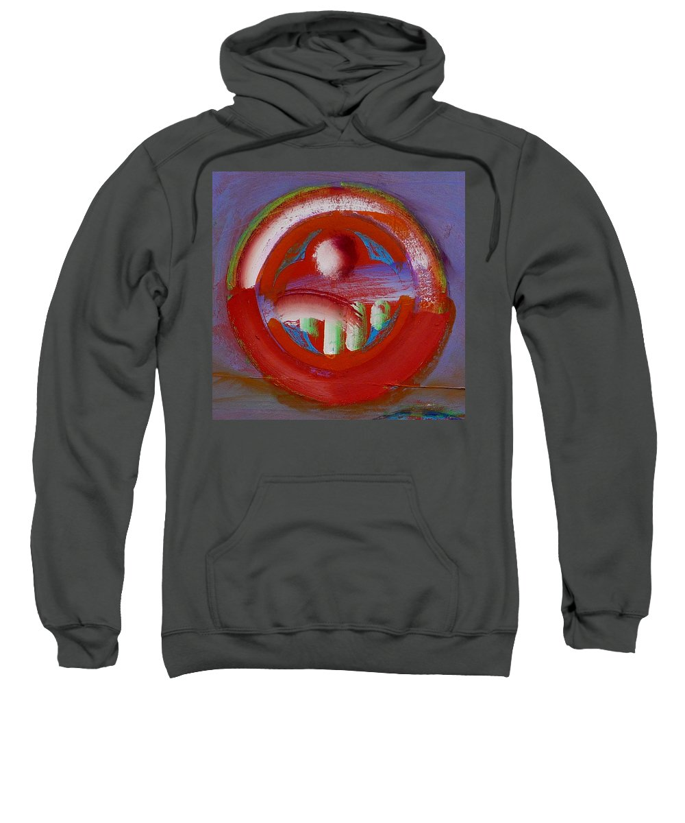 Love Sweatshirt featuring the painting Earth Button by Charles Stuart