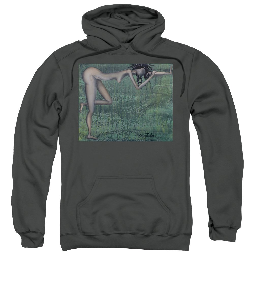 Earth Sweatshirt featuring the painting Earth Woman by Kelly Jade King