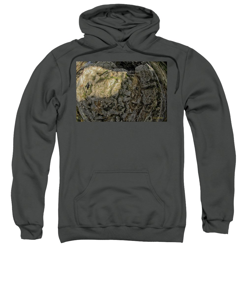 Rock Sweatshirt featuring the photograph Earth's Pedestal by Donna Blackhall
