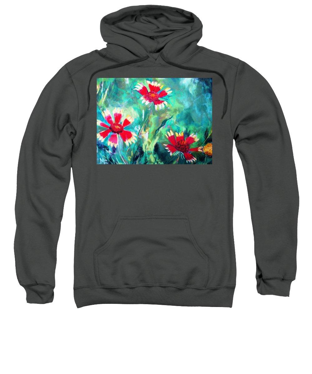 Flowers Sweatshirt featuring the painting East Texas Wild Flowers by Melinda Etzold