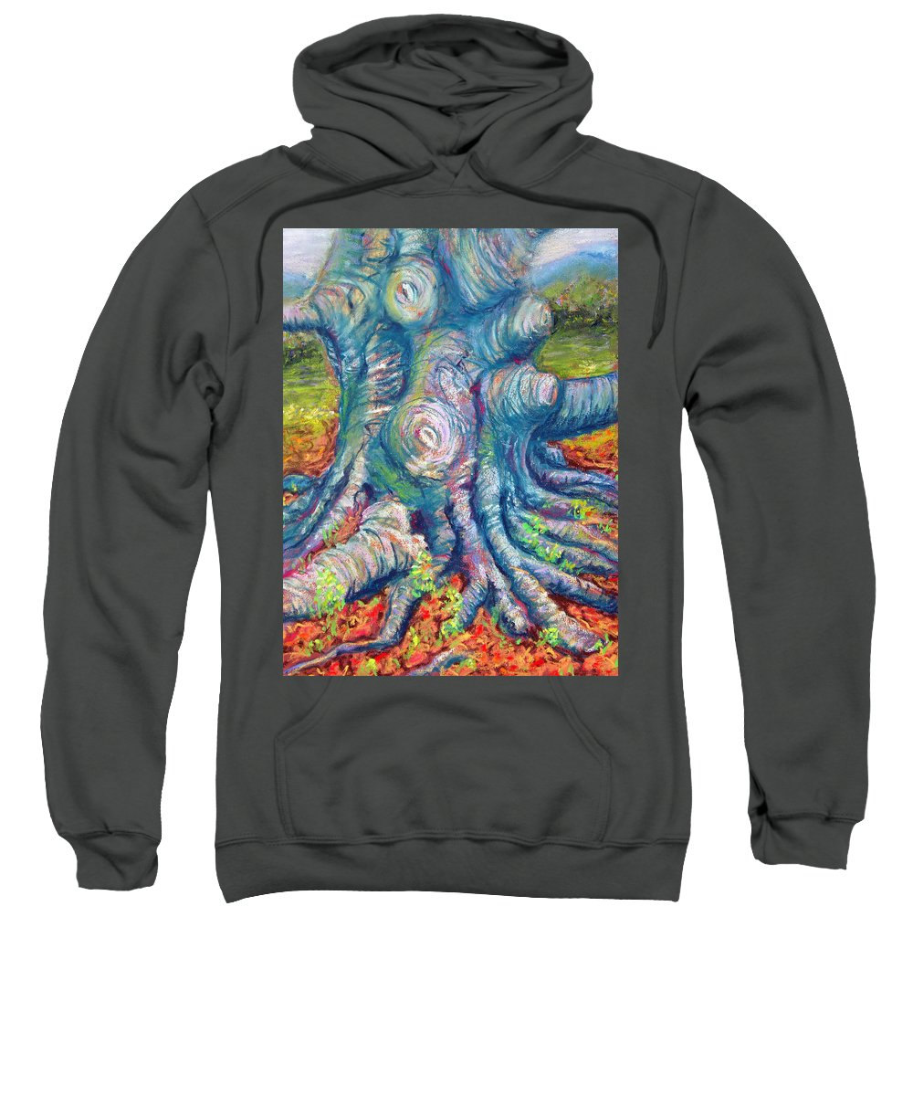 Eastern Beech Tree Sweatshirt featuring the painting Eastern Beech Tree by Laurie Paci