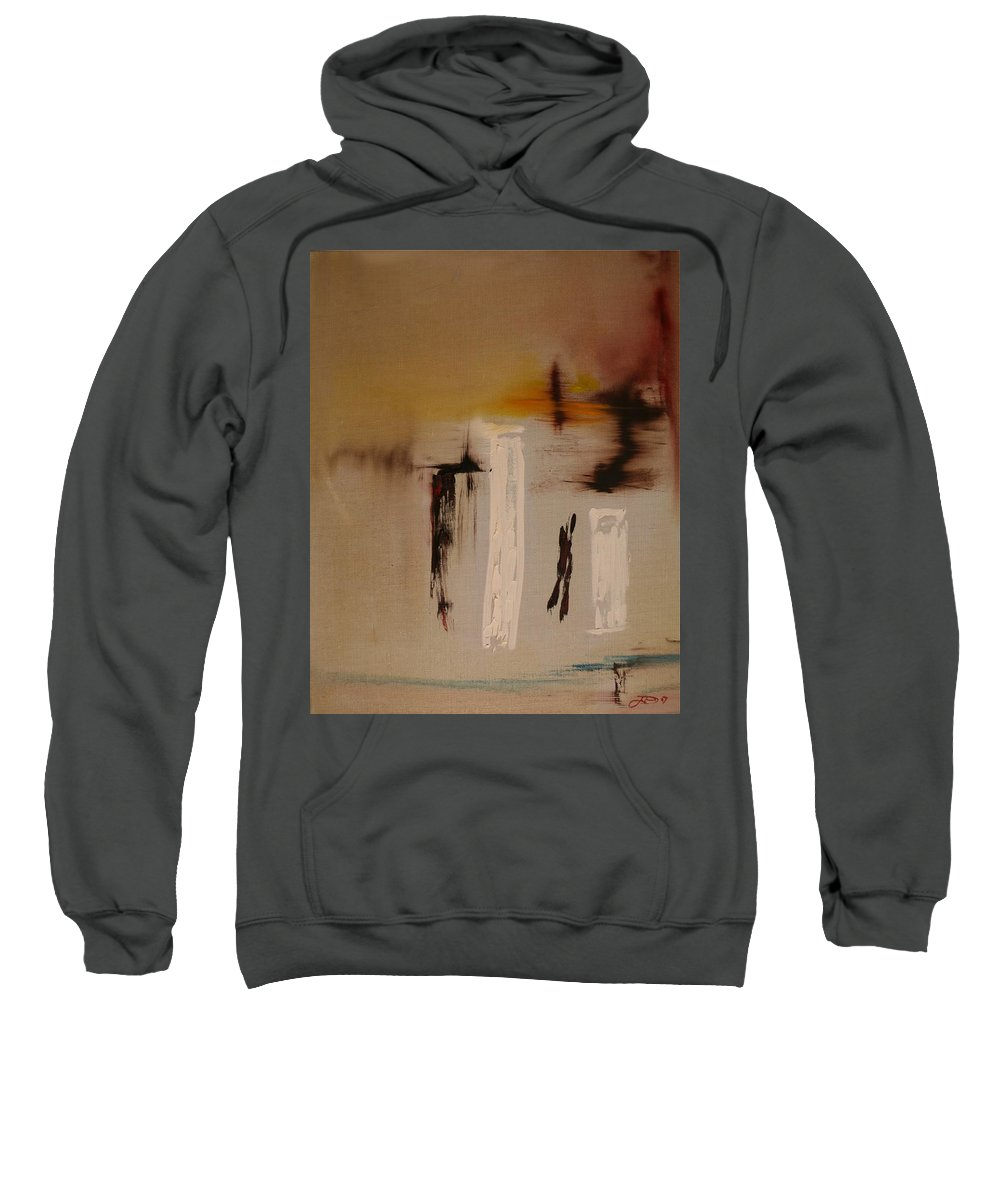 Abstract Sweatshirt featuring the painting Easy by Jack Diamond
