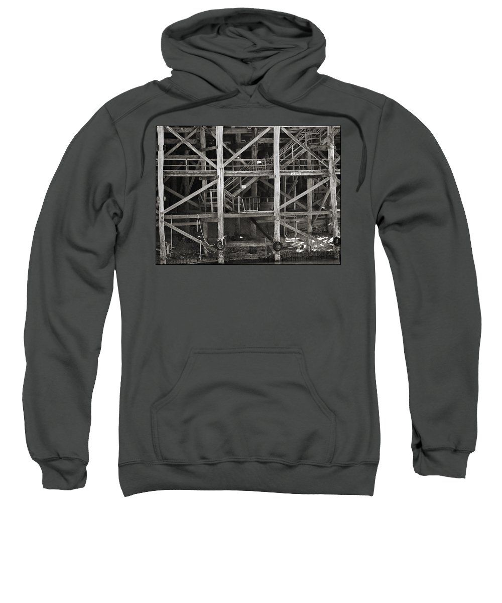 Wharf Sweatshirt featuring the photograph Echuca Wharf by Kelly Jade King