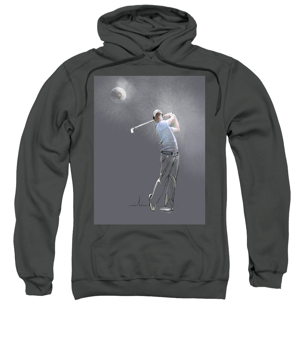Golf Sweatshirt featuring the painting Eclipse by Miki De Goodaboom