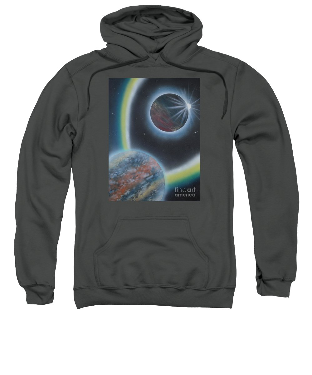 Sweatshirt featuring the painting Eclipsing by Mary Scott