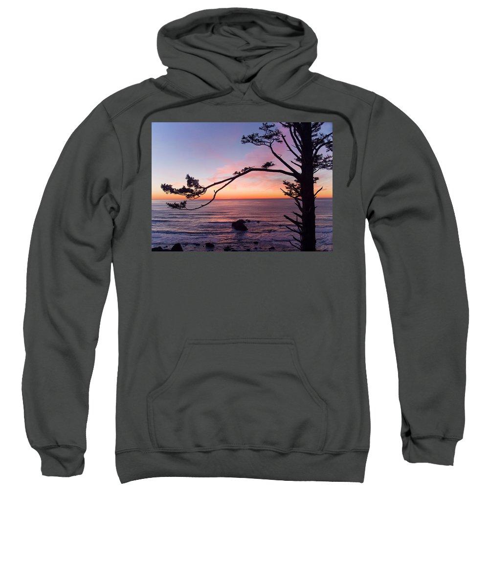 Landscapes Sweatshirt featuring the photograph Ecola Park Sunset by Steven Clark