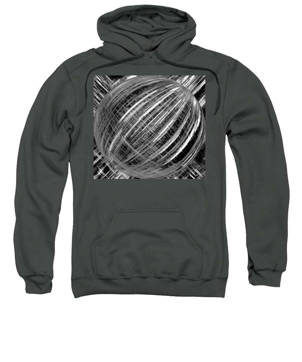Black & White Sweatshirt featuring the digital art Economic Bubble by Will Borden