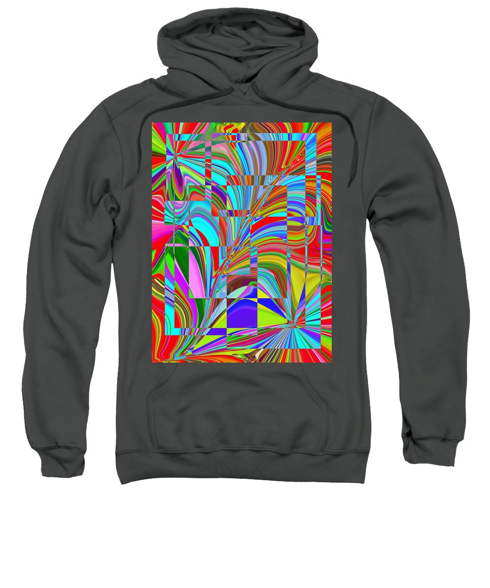 Abstract Sweatshirt featuring the digital art Ecstasy by Tim Allen