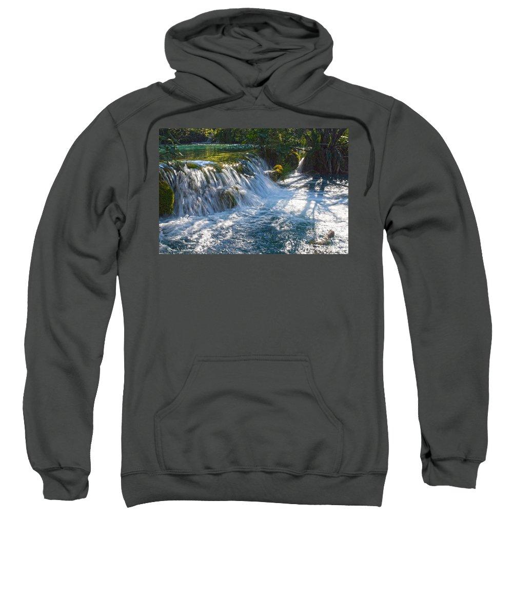 Waterfall Sweatshirt featuring the photograph Eden II by Daniel Csoka