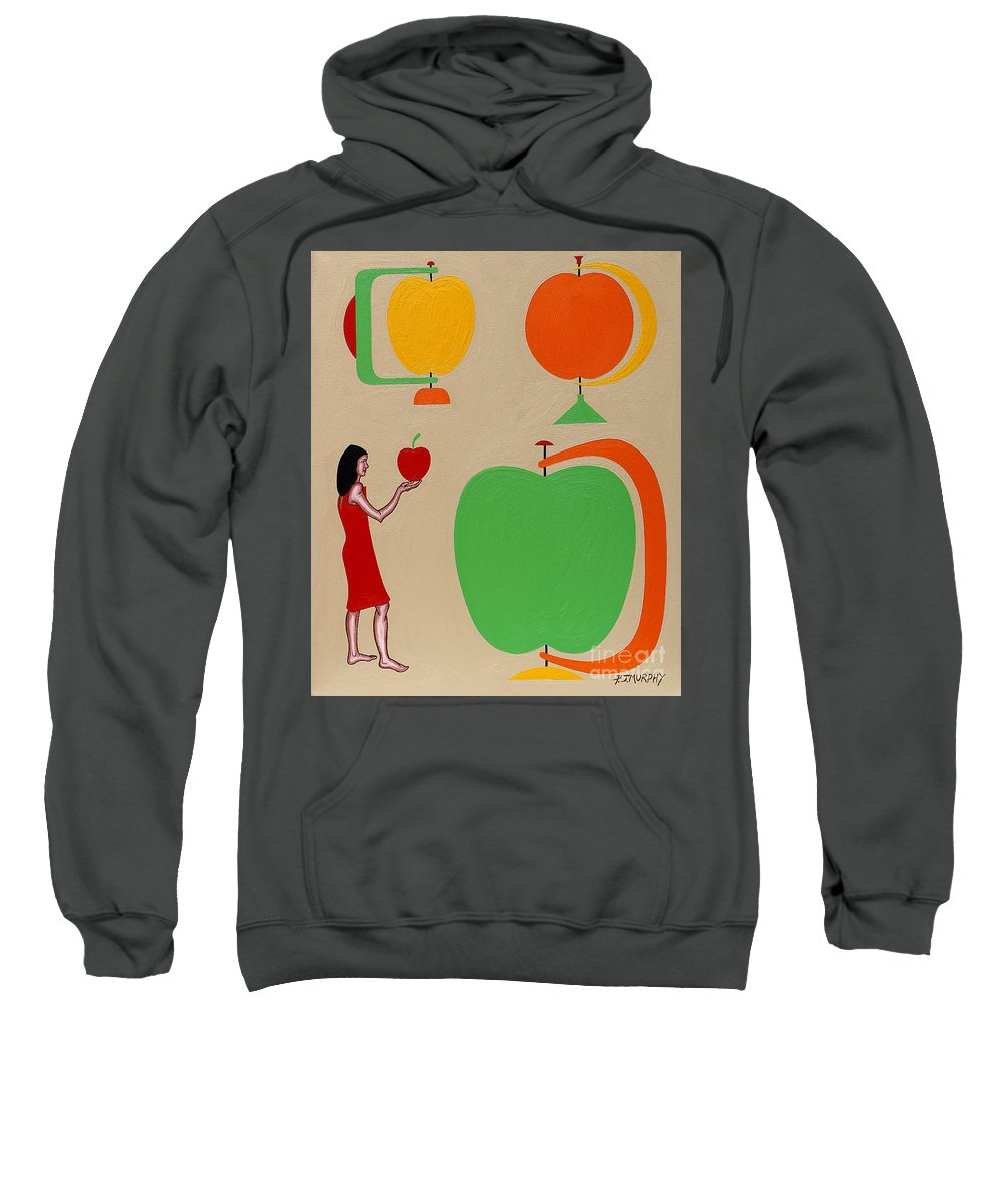 Eden Sweatshirt featuring the painting Eden by Patrick J Murphy