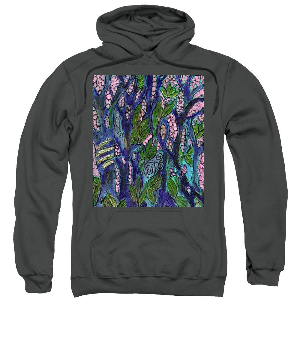 Garden Of Eden Sweatshirt featuring the painting Eden by Wayne Potrafka