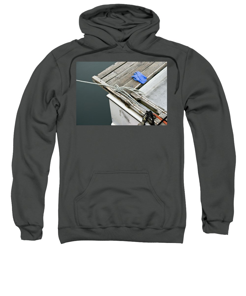 Edgartown Sweatshirt featuring the photograph Edgartown Fishing Boat by Charles Harden