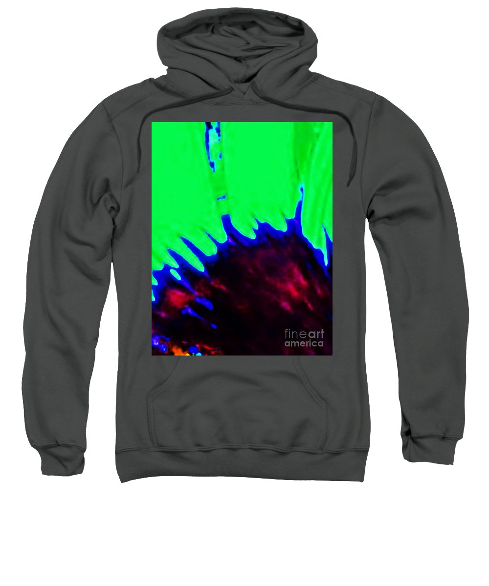 Edge Sweatshirt featuring the painting Edge Of Time And Space by Eric Schiabor