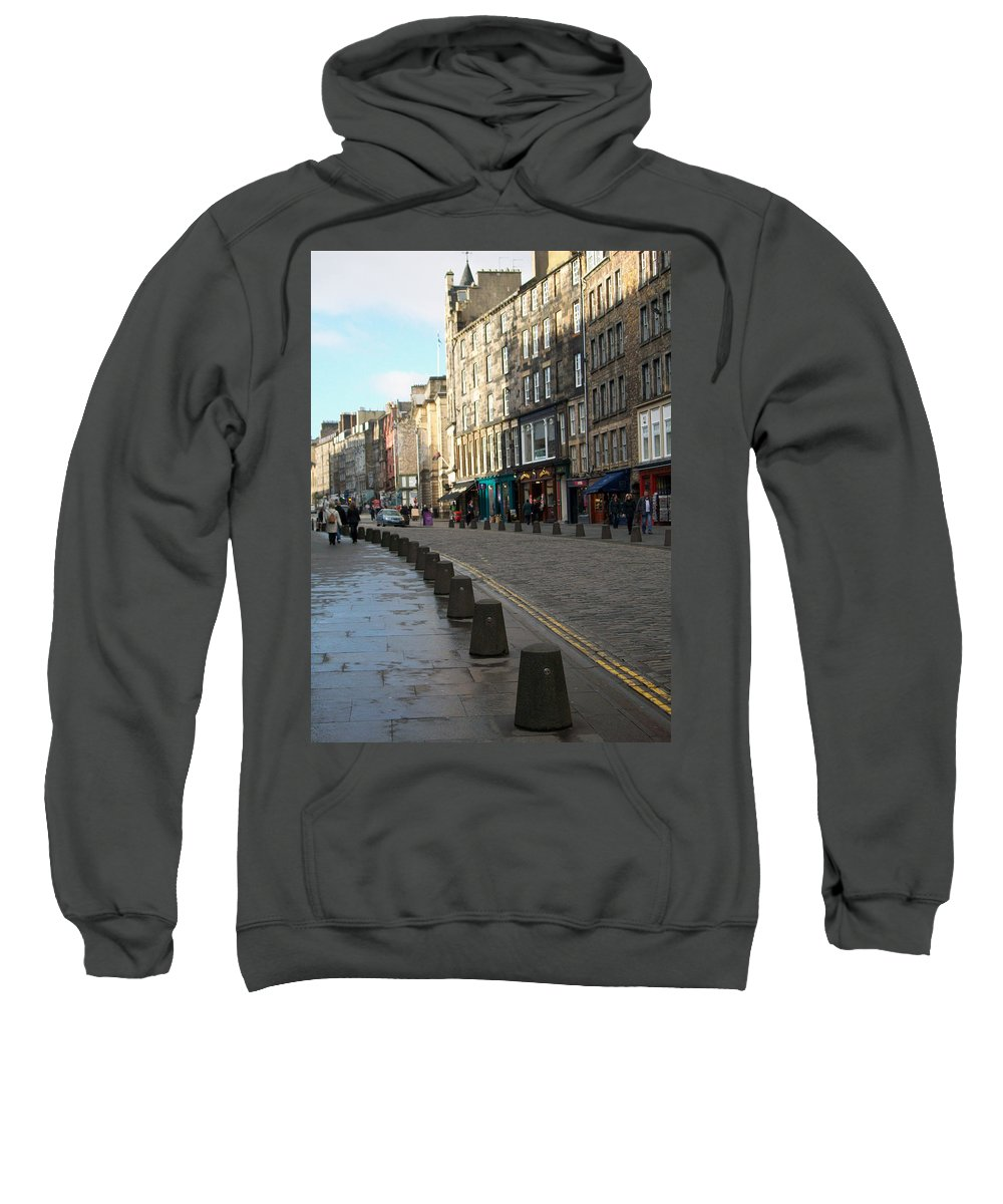 Scotland Sweatshirt featuring the photograph Edinburgh Royal Mile Street by Munir Alawi