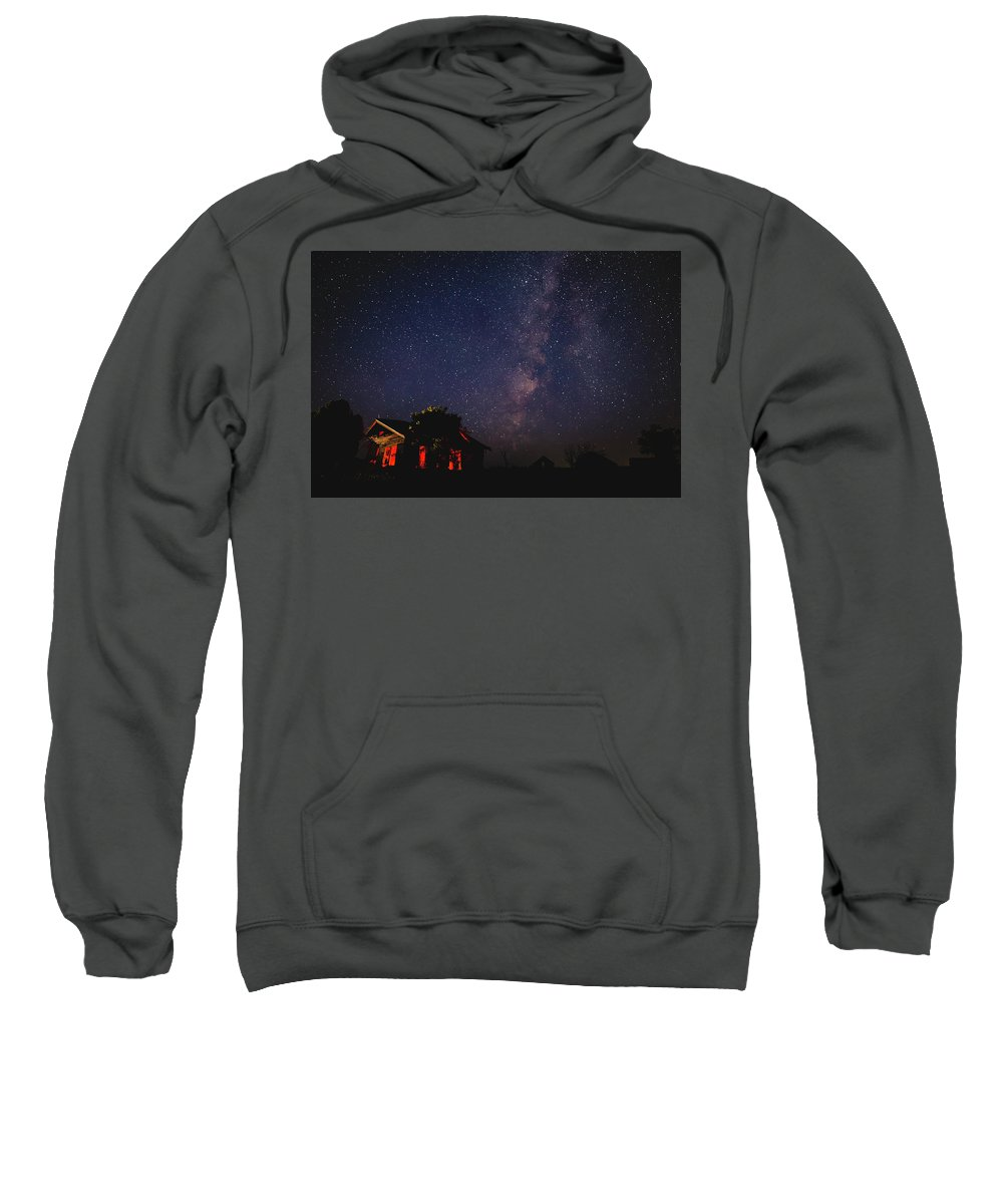 Astrophotography Sweatshirt featuring the photograph Eerie by Kelvin Chalkley