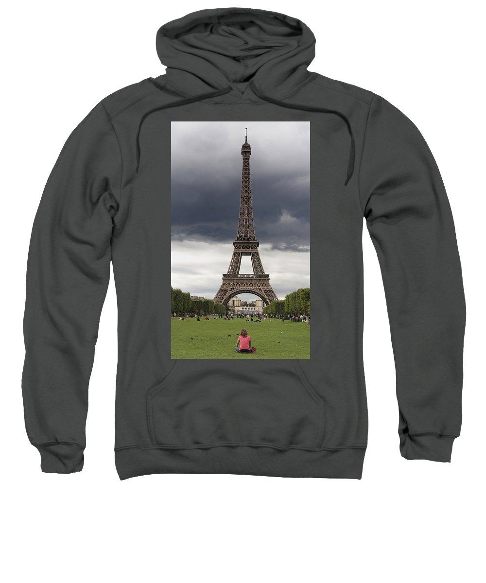 Paris Sweatshirt featuring the photograph Eiffel Tower. Paris by Bernard Jaubert