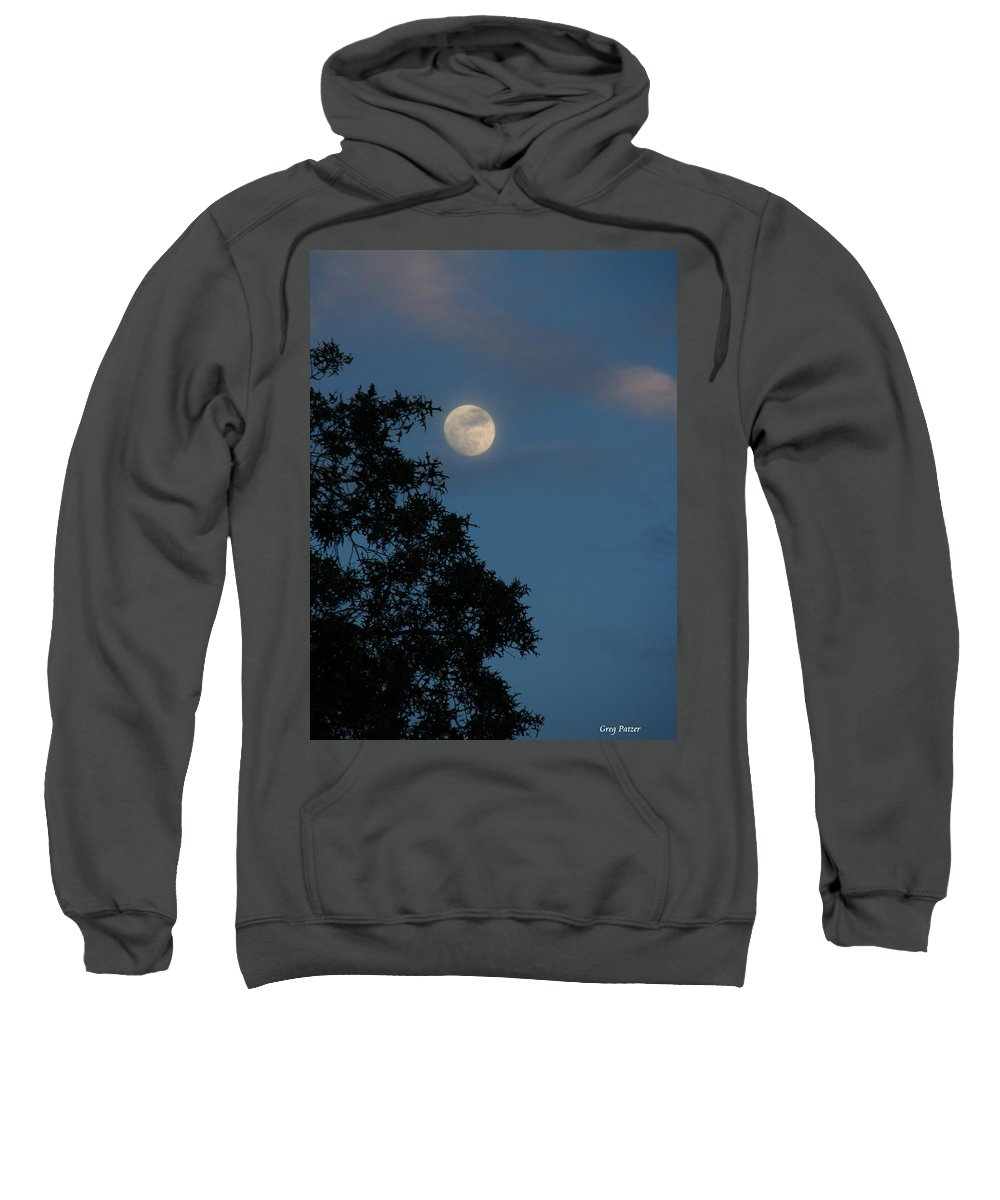 Patzer Sweatshirt featuring the photograph Eight Thirty Two Pm by Greg Patzer