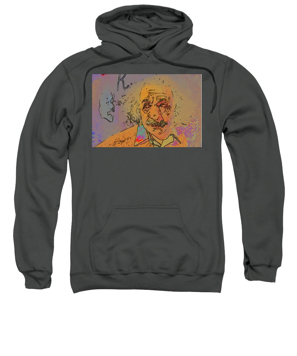 Einstein Sweatshirt featuring the digital art Einstein by Galeria Trompiz