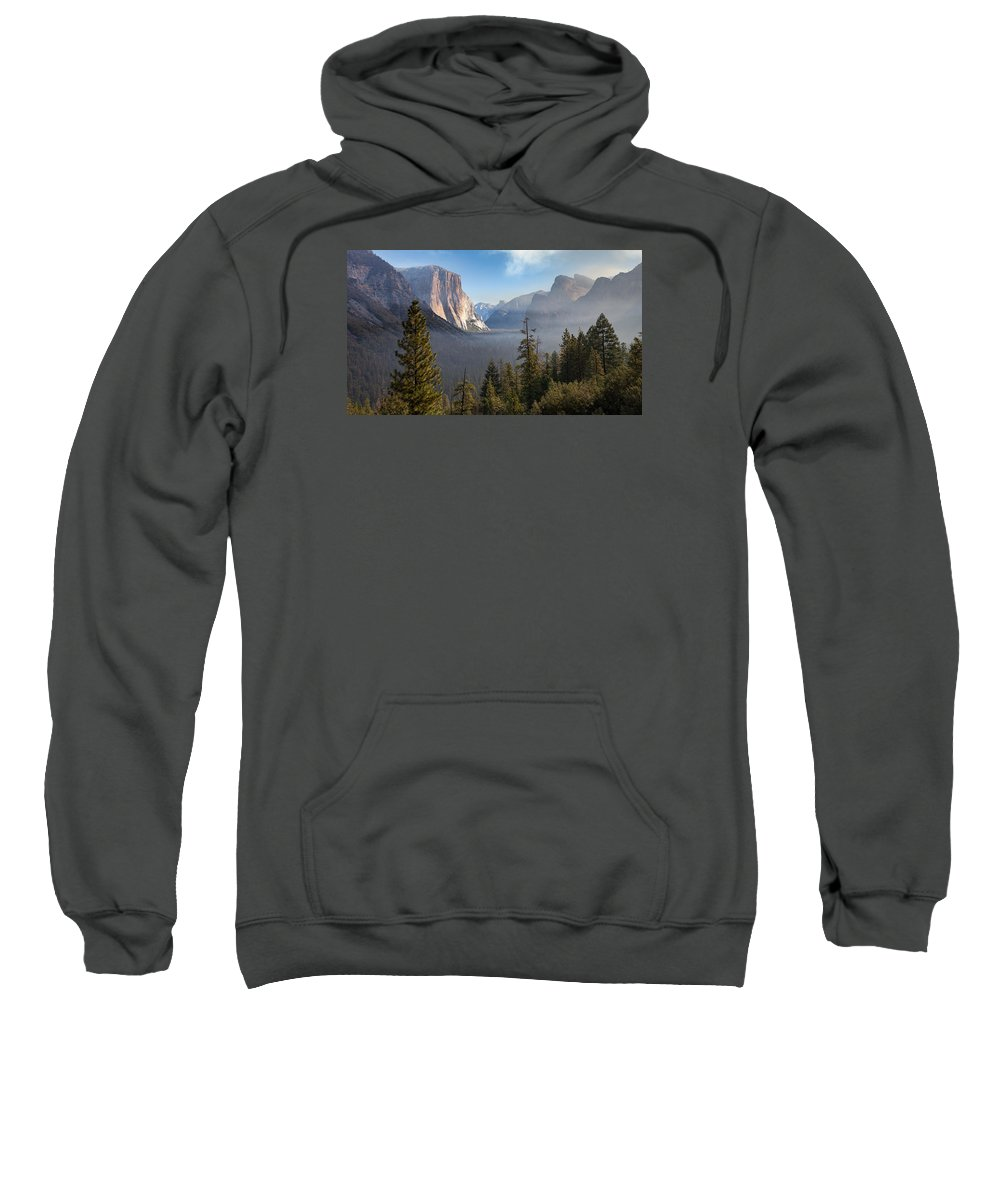 Yosemite Sweatshirt featuring the photograph El Capitan Valley View by Brian Anderson