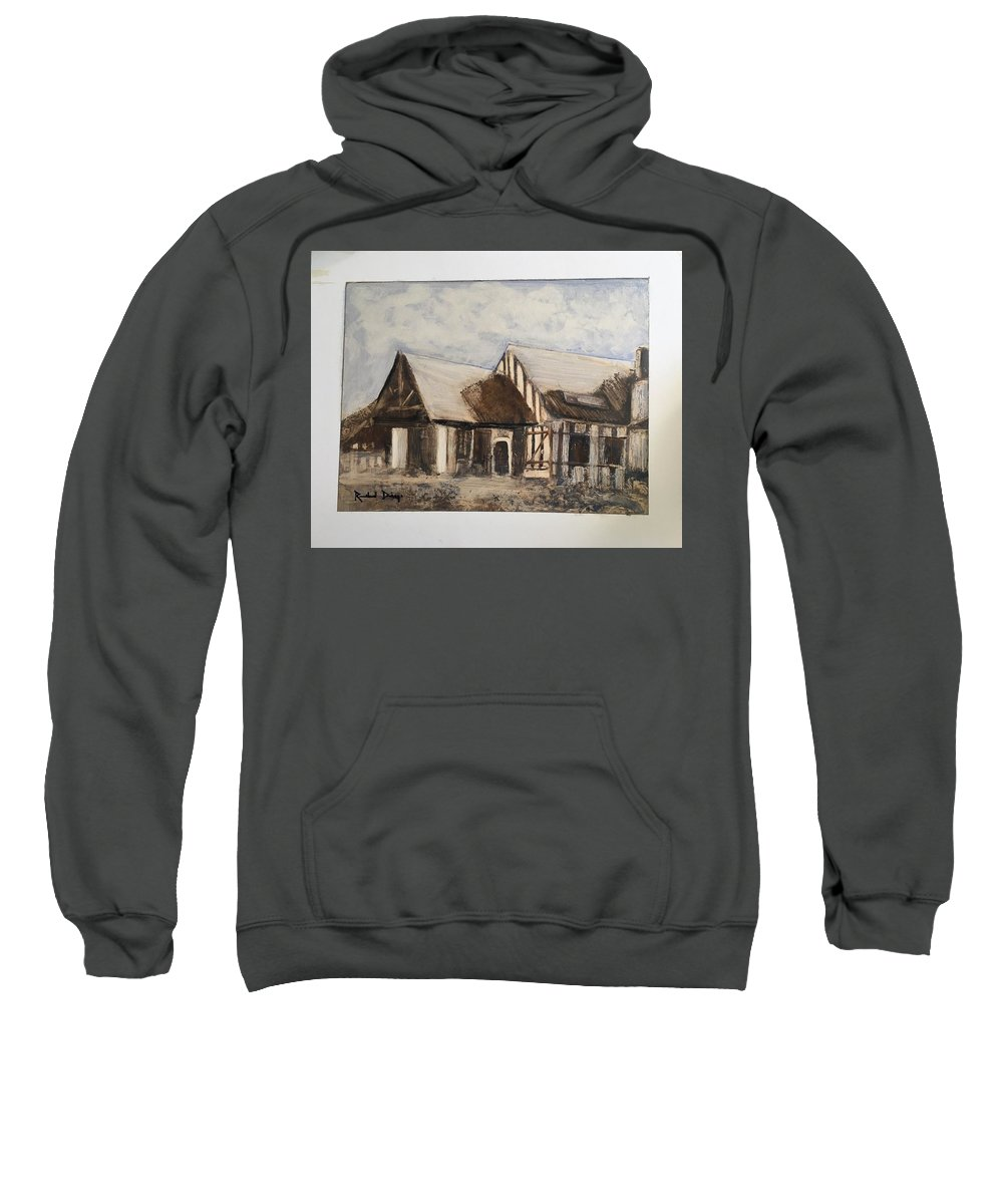Santiago Sweatshirt featuring the painting El Country by Richard W Diego